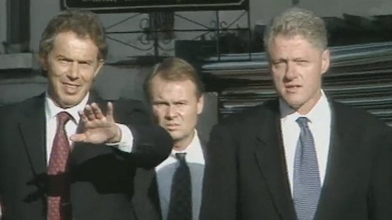 Tony Blaire and Bill Clinton visit Omagh, 1998