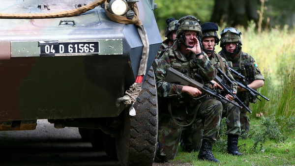 The soldiers have been in training ahead of their departure (Picture: Defence Forces)