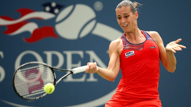 Flavia Pennetta has reached the quarter-finals of the US Open for the fifth time