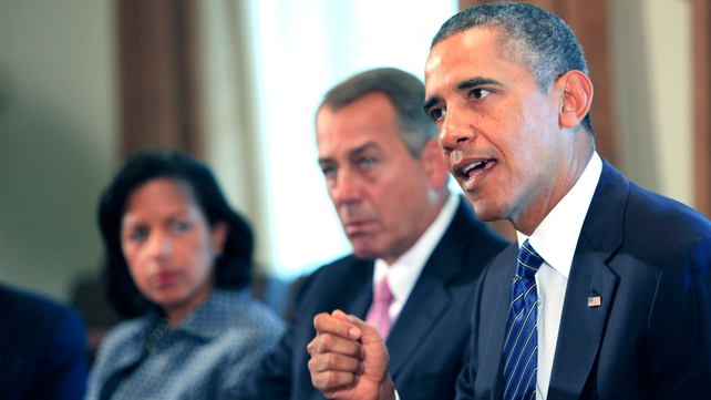 Barack Obama is urging Congress to authorise military action against Syria