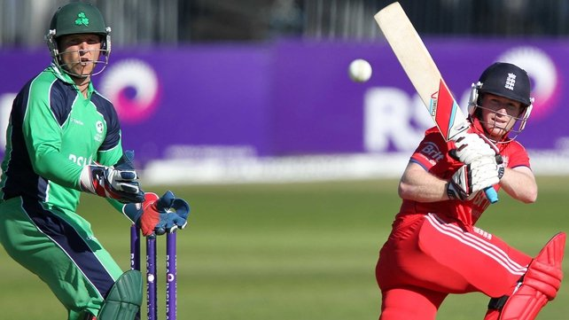 England's Eoin Morgan posted a knock of 124 not out