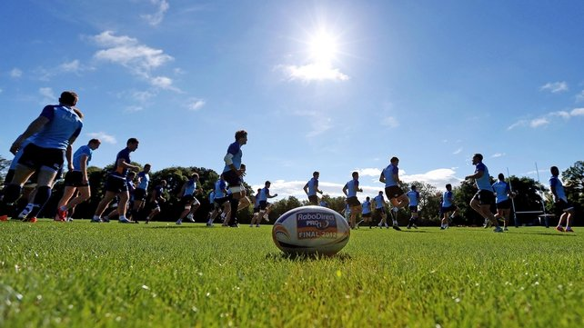 Bright sunshine as the Leinster players trained yesterday ahead of the new season