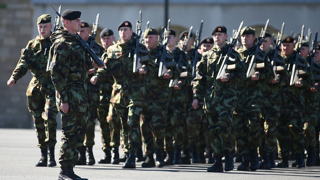 115 troops from the 43rd Infantry Group will be departing for the Golan Heights (Picture: Defence Forces)