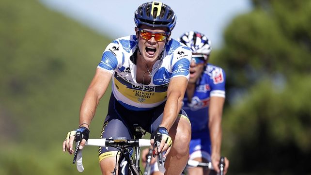 Nicolas Roche has dropped from second to sixth overall in La Vuelta