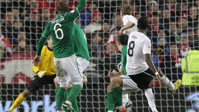 David Alaba scored a last-gasp equaliser against Ireland in March