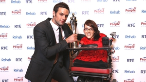 Bressie with Joanne O'Riordan, Young Person of the Year 2012