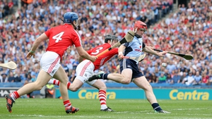 11 August: By the tenth minute the score stood at 0-04 apiece and already eight different players had got on the score-sheet - four for each side. A goal for David Treacy looked to have given Dublin the edge, but Cork still went into the break with a 0-15