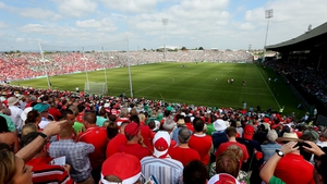 14 July: A baking hot day in Limerick in July. In the midst of the summer heatwave, the Gaelic Grounds was noisy and at full capacity for the Munster final.