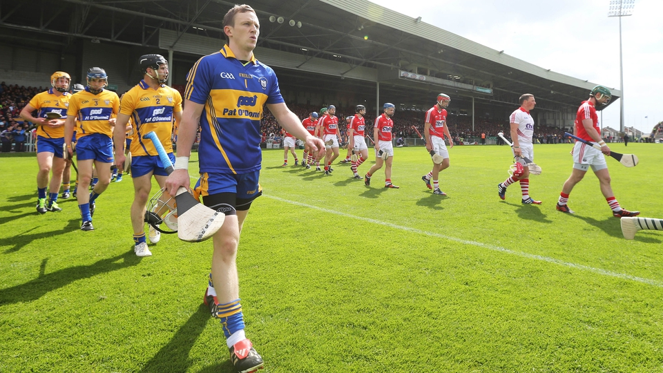 23 June: The Gaelic Grounds in Limerick was the setting for the rematch of the Division 1A relegation playoff between Cork and Clare - a clash which saw Clare send the Leesiders down to hurling's second tier.