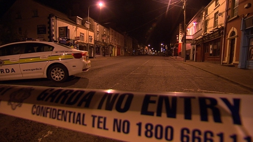 The area around the Square Bar was sealed-off last night