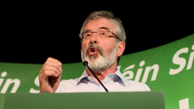 The 'think-in' is being held in the constituency of Sinn Féin leader Gerry Adams
