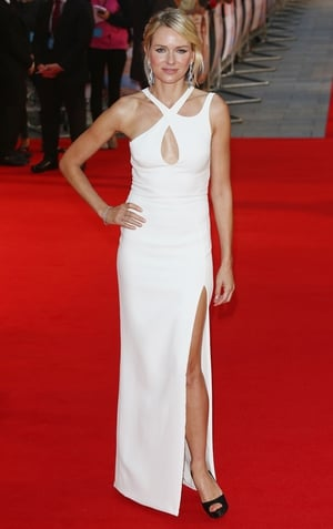 Naomi Watts walks the red carpet at the UK premiere of