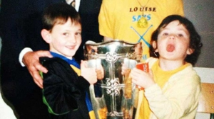 Aoife Talty is dreaming of recreating this photo from 1997 on Sunday night. Out of shot is Ger Loughnane
