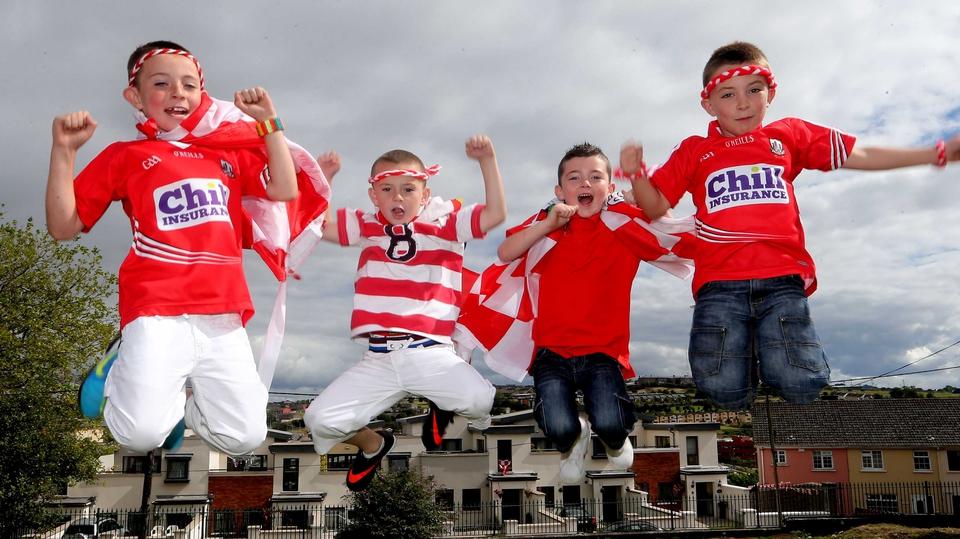 Will Séamus Ó Laochadha, Seán Gaffney, Roibeáird Ó Laoire and Alex Ó Mathúna from Gaelscoil Peig Sayers be jumping for joy on Sunday?