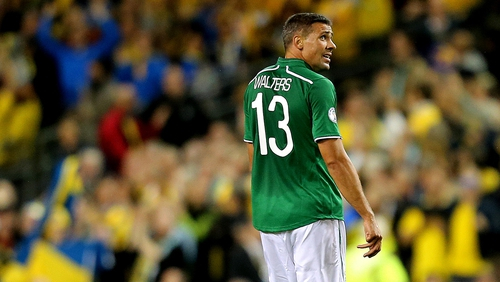 Republic of Ireland striker Jon Walters was replaced by Simon Cox in the 68th minute of the 2-1 defeat to Sweden on Friday night