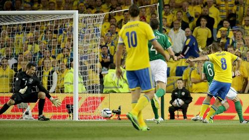 Sweden claimed victory thanks to Svensson's goal
