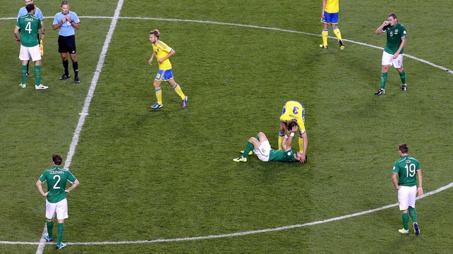 Shane Long is among the walking wounded after last night's collapse against Sweden