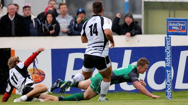 Matt Healy was among Connacht's try scorers in Galway