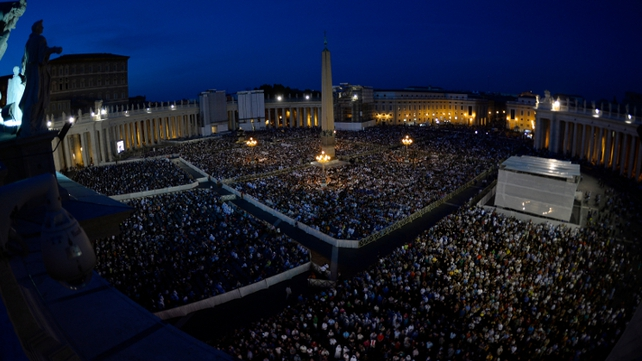 The Vatican estimated about 100,000 took part in the Rome event
