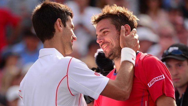 Novak Djokovic was again pushed all the way by Stanislas Wawrinka