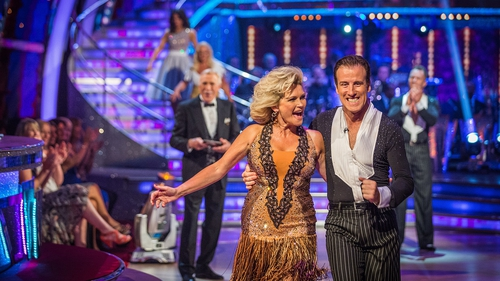Anton Du Beke with Fiona Fullerton on Strictly Come Dancing