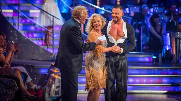 Robin Windsor (right) on Strictly Come Dancing