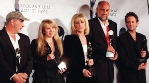John McVie, Stevie Nicks, Christine McVie, Mick Fleetwood and Lindsey Buckingham together in 1998