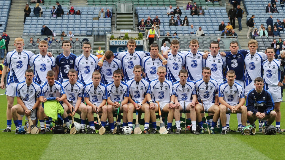 The Waterford panel ahead of the All-Ireland Minor Hurling Final.