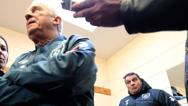 Marco Tardelli (back right) has defended under-fire Ireland manager Giovanni Trapattoni