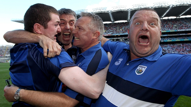 What's seldom is wonderful - Waterford's management team celebrate a first All-Ireland MHC title in 65 years