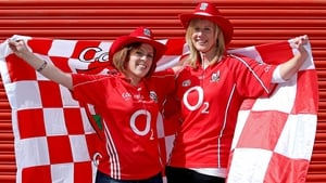 Sea of red - Yvonne Johnson & Deirdre Collins show their support for Cork