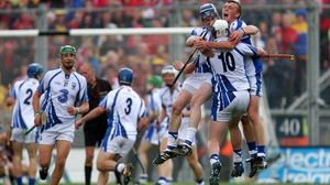 Waterford players after the final whistle - All-Ireland minor champions for the first time since 1948