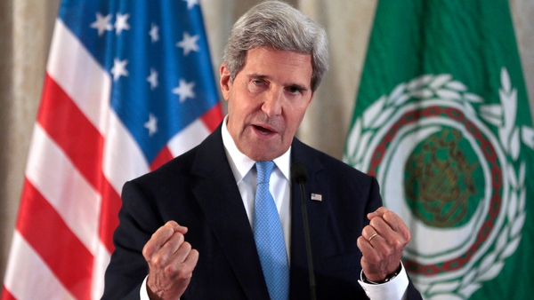 John Kerry met representatives of the Arab League in Paris to discuss Syria