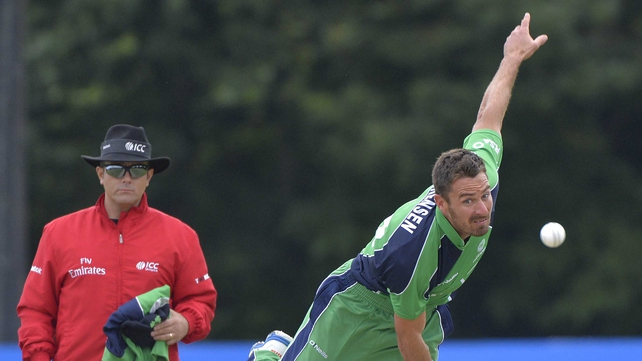Max Sorenson took three wickets for Ireland