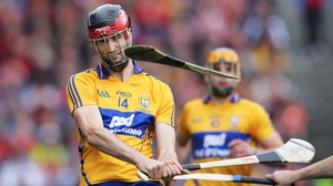 Clare's Darach Honan wins the clash of the ash during the drawn All-Ireland hurling final