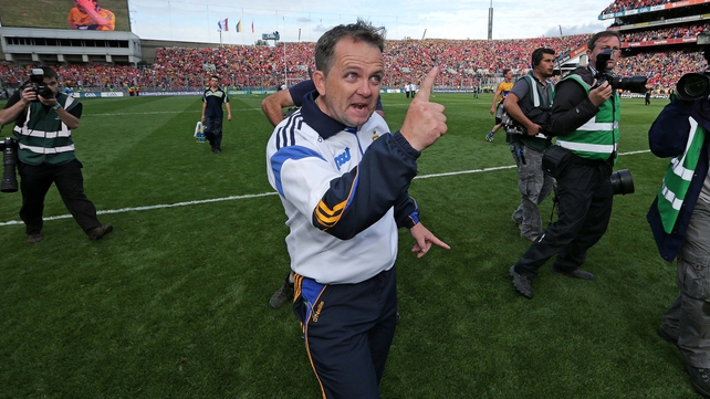 Davy Fitzgerald makes a point at full-time