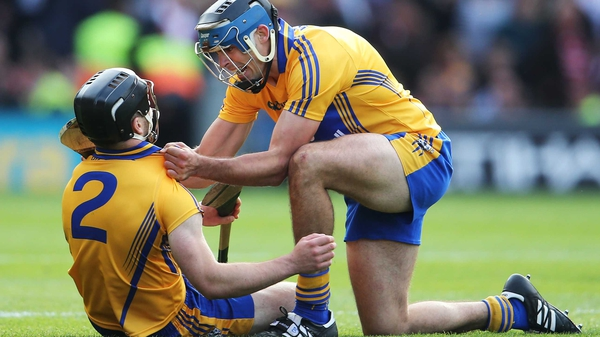 Domhnall O'Donovan (l): 'I said I'll go for it and I fell over as I was hitting it'
