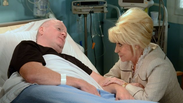 Peggy returns to see Phil in hospital