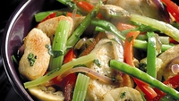 Aldi Stir-fried Chicken with Ginger  - This delicious recipe for Stir-fried Chicken with Ginger serves four and can be made from ingredients found in Aldi's 101 Irish stores.