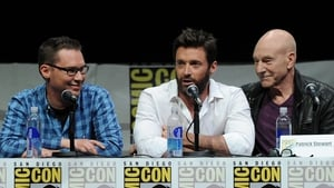 Bryan Singer, Hugh Jackman and Patrick Stewart at Comic Con 2013