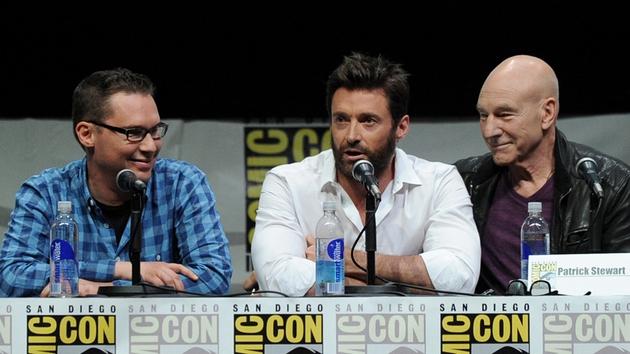 Bryan Singer, Hugh Jackman and Patrick Stewart at Comic Con 2013