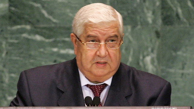 Walid al-Moualem said handing over chemical weapons would remove the grounds for US aggression