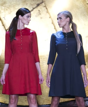 Manley Hive Dress (in black & red) €385 AW13