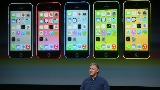 Apple Senior Vice President of Worldwide Marketing Phil Schiller speaks about the new iPhone 5C during the announcement
