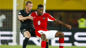 David Alaba was the difference between the two sides and hit the winning strike as Ireland were beaten in Vienna