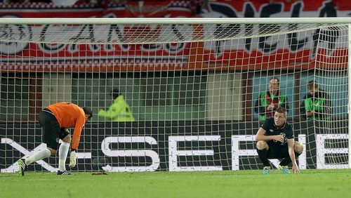 Ireland were beaten 1-0 in Vienna, effectively ending their hopes of World Cup qualification