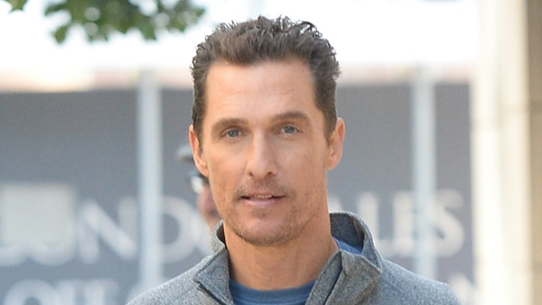 Matthew McConaughey is having a different sort of health kick this January