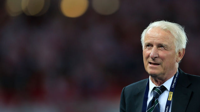 Giovanni Trapattoni pictured in Vienna last night