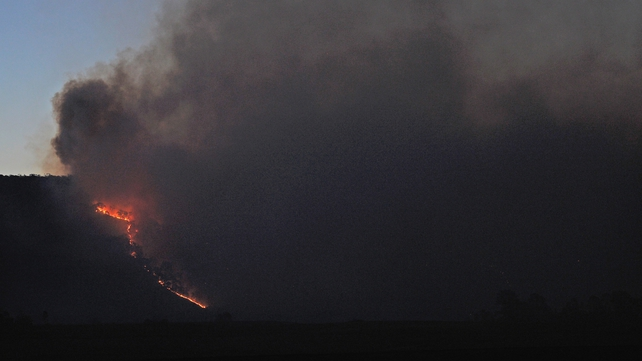 Local media reported that the fire tore through more than 500 hectares