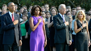 A moment of silence was observed earlier outside the White House